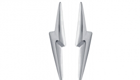 Edge_Only - 3D Pointed Lightning Bolt Earrings €135.00