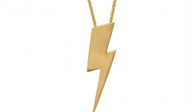 Edge_Only - Flat Top Lightning Bolt Pendant18ct gold vermeil curb chain€169.00