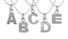 Edge_Only - Silver Letter Pendants ABCDE  €139.00