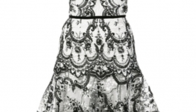 Marchesa Embridered Lace Dress