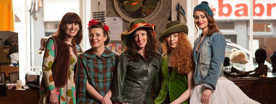 Vintage Belle Clothes stall at the Dublin Flea Christmas Market 2015