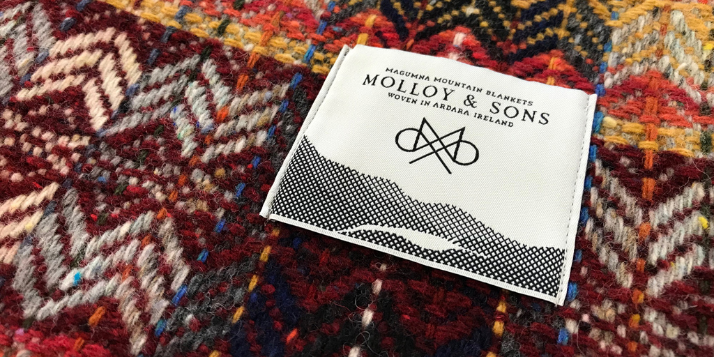 Molloy&Sons tweed stall at the Dublin Flea Christmas Market